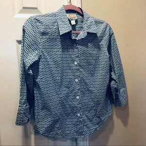 Talbots wrinkle resistant 3/4 sleeve button down 4